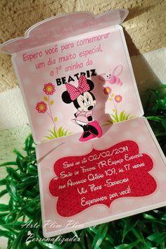 Convite Personalizado - Minnie