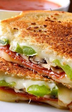 pepperoni pizza toppings in a grilled cheese, serve marinara or tomato soup on the side for dipping