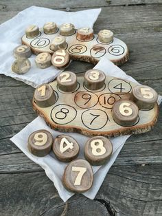 10 Number Cookies & Board by TreebranchKids on Etsy – WoodMAH Maths Eyfs, Eyfs Classroom, Eyfs Activities, Numeracy, Reggio Emilia Classroom, Reggio Inspired Classrooms, Outdoor Learning Spaces, Play Spaces, Curiosity Approach Eyfs