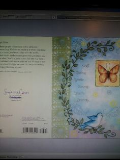 One of artist Barbara Ann Kenney's Inspirational cards with Guidepost Magazine