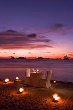 Romantic dinner at Conrad Koh Samui - Thailand