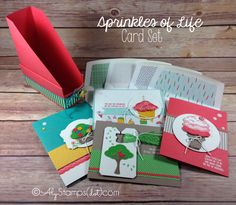 Sprinkles of Life Card Set with Card Holder and Coordinating Envelopes - Ronald McDonald House Charities Stamp Set by Stampin' Up!