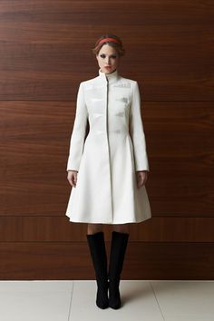 Tulipani Rossi off-white winter coat | LACCA Fashion
