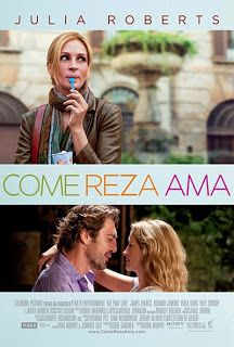 La película que ha cambiado las vidas de Javier Bardem y Julia Roberts, «Eat Pray Love», está basada en una novelita (de autoayuda según  un programa literario de televisión) de Elizabeth Gilbert, resulta ser un plato recalentado, insípido y más que romántico, cursi y horriblemente afectado.