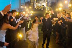 We love sparkler exits! Sanaz Photography laguna beach wedding