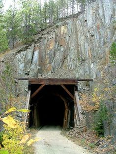 Mickelson Trail Tunnel in Black Hills, SD