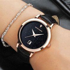 e274762aaf63 2017 Fashion Black Wrist Watch Women Watches Ladies Luxury Brand Famous  Quartz Watch Female Clock Relogio Feminino Montre Femme
