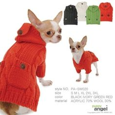 dog cable sweater