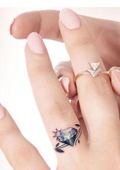 Diamond Tattoo Meaning, Diamond Finger Tattoo, Diamond Tattoos, Finger Tattoos, Ring Finger, Finger Heart, Finger Tattoo For Women, Best Tattoos For Women, Trendy Tattoos