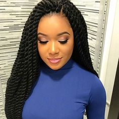 Flawless twists via @narahairbraiding - https://blackhairinformation.com/hairstyle-gallery/flawless-twists-via-narahairbraiding/