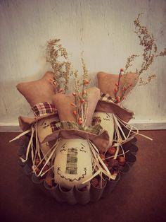 Primitive Scarecrow Head Tucks Autumn Home Decor