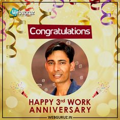 Many Congratulations Jai on completion of the year in Webguruz. The energy and vibe you bring along with your positive attitude make us hold our head high with pride. We are blessed to have you on our team. Wishing you a happy work anniversary. Work Anniversary, Positive Attitude, Wish, Hold On, Pride, Blessed, Congratulations, Bring It On, Positivity