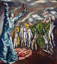 The Opening of the Fifth Seal, 1608-14 by El Greco