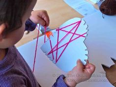 valentine's day heart lacing activity