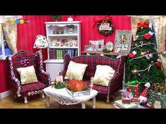 Miniature Dollhouse kit Christmas Room ドールハウスキット ミニチュアクリスマスルーム作り - YouTube
