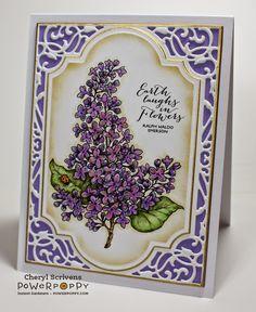 Power Poppy, Instant Gardeners, French Lilac, Digital Image, CherylQuilts, Designed by Cheryl Scrivens