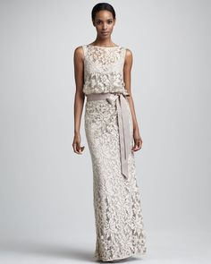 Tadashi Shoji Lace Gown for Mother of the Bride