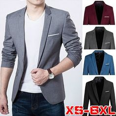 Plus Size XS-5XL Casual Blazer Men Fashion Formal Suit jacket