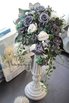 Five preserved flower lesson works ☆- プリザーブドフラワー・レッスン作品5点☆ Five preserved flower lesson works ☆ - Rose Thorns, Moving To Colorado, Church Flowers, How To Preserve Flowers, Flower Boxes, Beautiful Roses, Dried Flowers, Colorful Flowers, Flower Designs