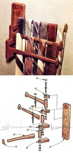 Convenient Tie Rack Plans - Woodworking Plans and Projects | WoodArchivist.com