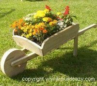 Ordinaire A Garden Wheelbarrow Planter Box, Made Mine Last Week Just Needs Paint. Wheelbarrow  Planter