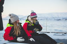 Always laughing while on our Arctic Fjord Sailing in Tromsø, Norway. Photo by Max Lander for Pukka Travels Us Sailing, M Photos, Tromso, Dark Winter, Sea Birds, First Girl, Catamaran, Winter Months, Plan Your Trip