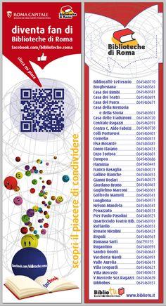 Segnalibro Diventa Fan di Biblioteche di Roma.  http://www.comune.roma.it/PCR/resources/cms/documents/segnalibro_mi_piace_bdr_2014_60x230.pdf Clicca MI PIACE SU FACEBOOK https://www.facebook.com/biblioteche.roma