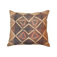 Tie Dye Kuba Raffia Cloth Pillow - $285 on Chairish.com