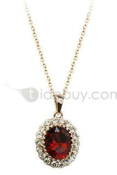 Fabulous Diamond with Rhinestone Alloy Necklace : Tidebuy.com