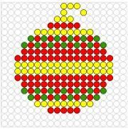 (no title) # embroidery - MyStyles Christmas Perler Beads, Christmas Cross, Sheep Tattoo, Monster Tattoo, Wand Tattoo, Arts And Crafts, Diy Crafts, Melting Beads, Theme Noel