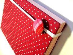 caderno coberto com tecido - Pesquisa Google