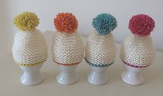 Ravelry: Pom Pom Egg Cosy pattern by Patricia Evans