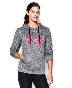 Under Armour Women's UA Big Logo Applique Twist Hoodie Medium Black  Under Armour $54.97