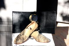 Black haircalf clutch with horn. Zebra Print, Horn, Morocco, Riding Boots, Oxford Shoes, Bags, Fashion, Horse Riding Boots, Handbags
