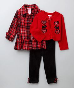 Red Scotty Dog Set - Toddler - by Nannette