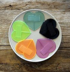 iHeart this Heart parts - $9.95 for 10 - split into two and transforms into on the go cutlery!