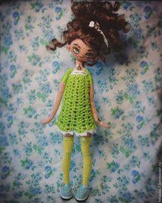 Купить вязаная каркасная кукла - кукла ручной работы, кукла, авторская работа, каркасная кукла ♡