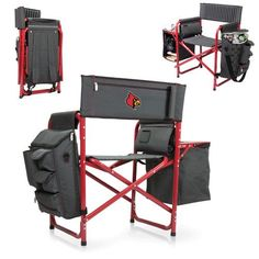 Fusion Chair - Dk Grey/Red (University of Louisville - Cardinals) Digital Print
