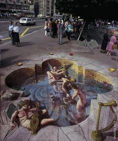 fresque en trompe-l'oeil impressionnante