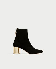 ANKLE BOOTS WITH METALLIC HEELS-Ankle Boots-SHOES-WOMAN   ZARA United States
