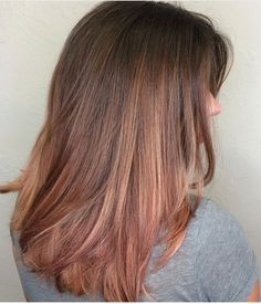 Rose gold with brown hair What I don't want