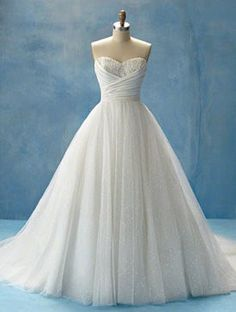 Indulge me for a sec. Alfred Angelo came out with Disney Princess themed bridal gowns. This is the one for Cinderella.