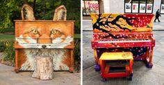 91 Beautiful Outdoor Pianos You Can Play All Around The World Arte Do Piano, Piano Art, The Piano, Birmingham, Painted Pianos, Painted Furniture, Jouer Du Piano, Urban Intervention, Old Pianos