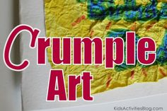 Cool Handmade Cards doing Crumple Art- kids love this!