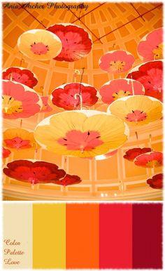 Color Inspiration / {Color Palette Love} Parasols