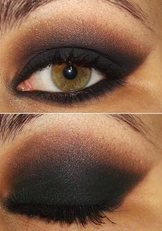 lovely eye color. I've never tried doing a dark shadow like this.