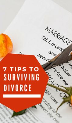 7 Tips for Surviving Divorce | Advice and tips to survive divorce with (or without) kids. Life after divorce doesn't have to suck!