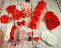 39pc DIY Headband Kit Valentine's Day by BerryBlossomSupplies, $15.99