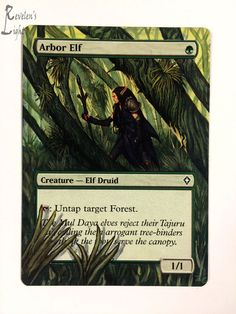 Arbor Elf - Full Art - MTG Alter - Revelen's Light Altered Art Magic Card
