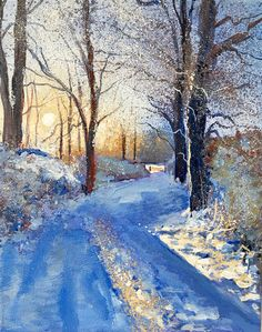Winter Walk Day 309 SOLD - Acrylic on Canvas